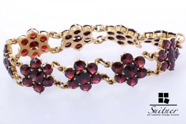Granat Armband 333 Gelbgold