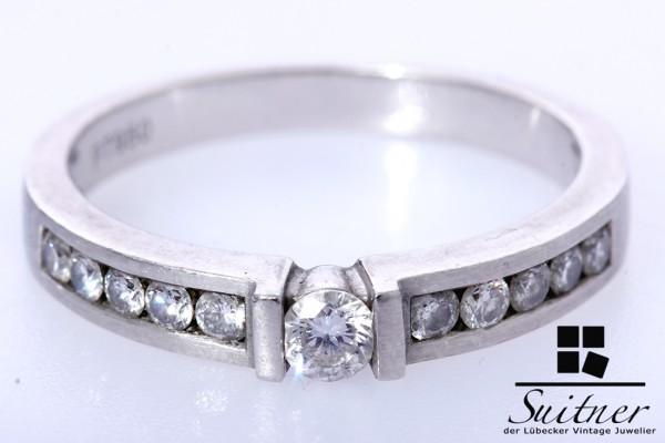Verlobungsring oder Vorsteckring aus 950 Platin Ring Brillanten Gr. 56 Luxus pur