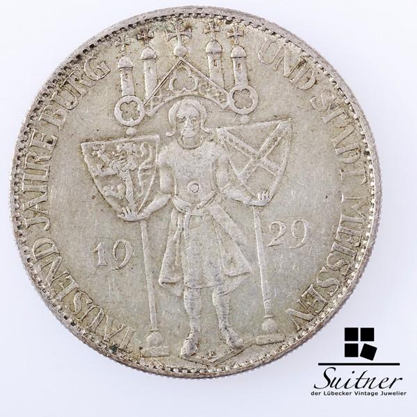 5 Mark Reichsmark Meissen 1929 Prägestätte E SS