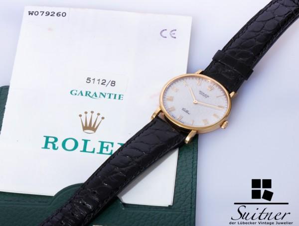 Rolex Cellini 5112 / 8 aus 750 Gold Fullset Box und Papiere LC100 1999