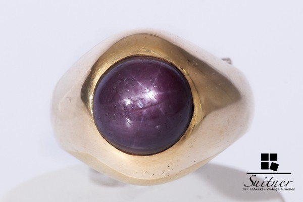 Ring 585 Gold Sternrubin Rubin Gr. 55