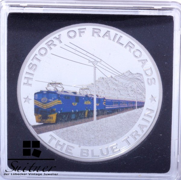 5 Dollars 2011 History of Railroads the blue Train Silber